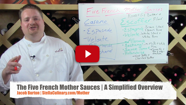 Understanding The Five French Mother Sauces - Video Lecture