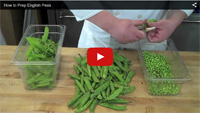 How to Blanch English Peas