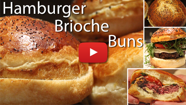Hamburger Brioche Bun Video Recipe