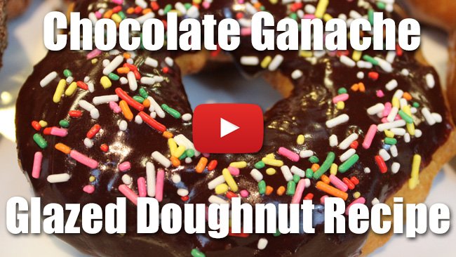 Chocolate Ganache Glazed Doughnut Recipe