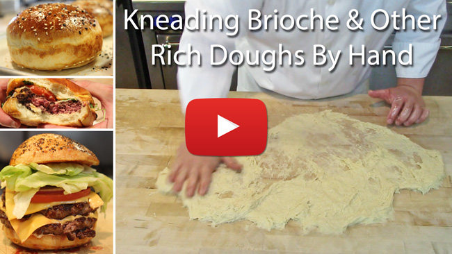 How to Knead Brioche Buns By Hand
