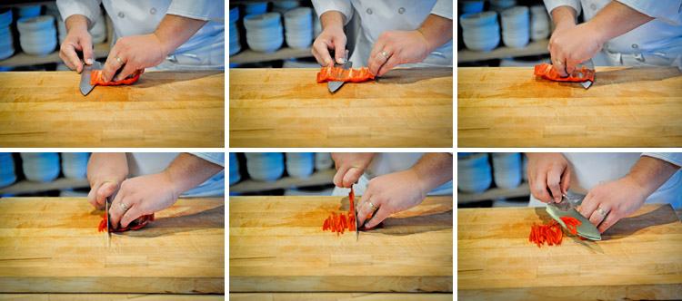 how to cut a bell pepper step four