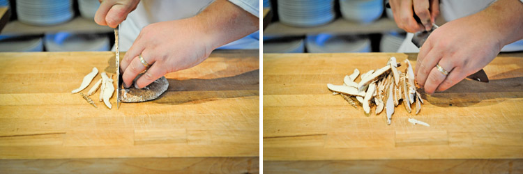 How to clean a portobello mushroom step five