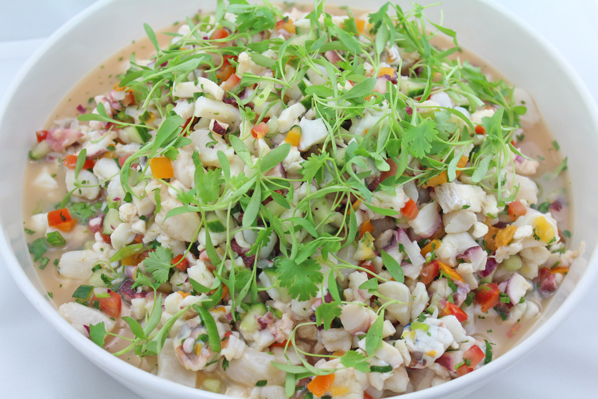 Mixed seafood ceviche recipe dishmaps for Shrimp and fish ceviche