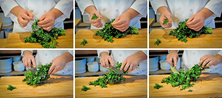 How to Mince Parsley - Step One