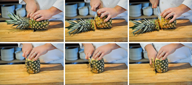 How to Peel and Slice a Pineapple - Step One