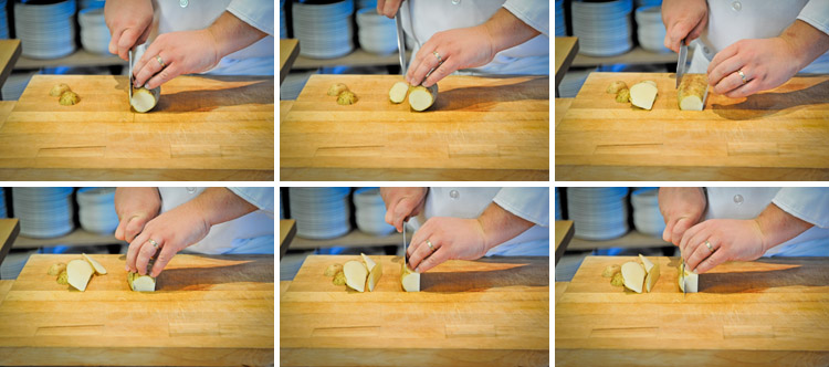 How to Dice, Julienne, Brunoise and Batonnet - Step Two