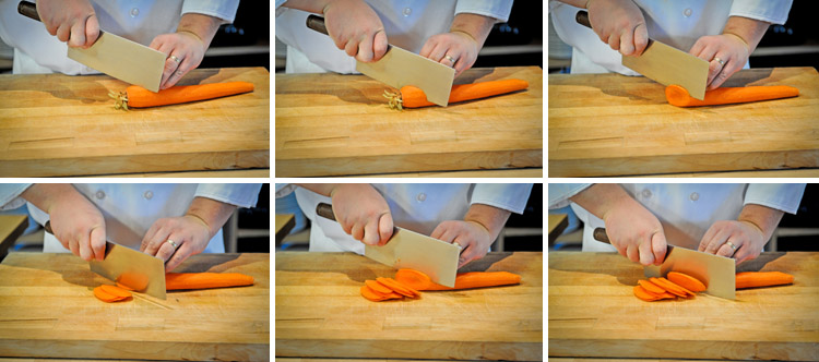 How to Cut Bias or Rondelle - Culinary Knife Skill Techniques