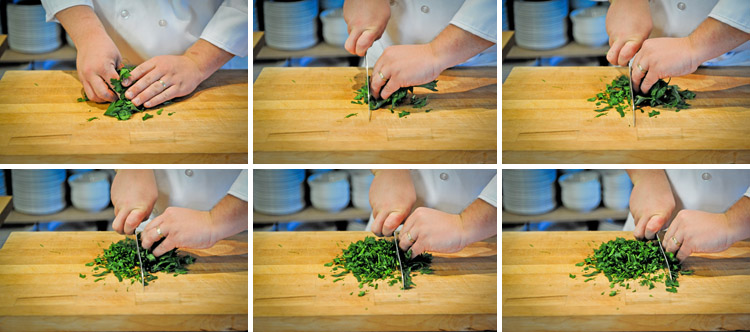 How to Mince Parsley - Step Two