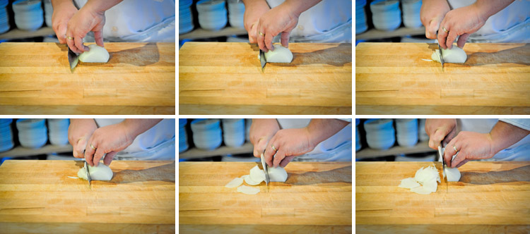 How to Julienne an Onion - Step Two