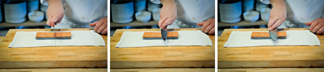 How to Sharpen a Knife Using a Water Stone - Step Two