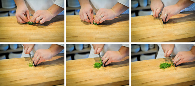 How to Chiffonade Basil and Other Fresh Herbs - Step Two