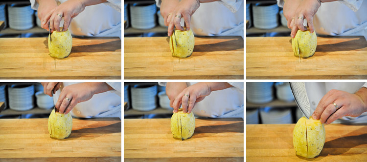 How to Peel and Slice a Pineapple - Step Three