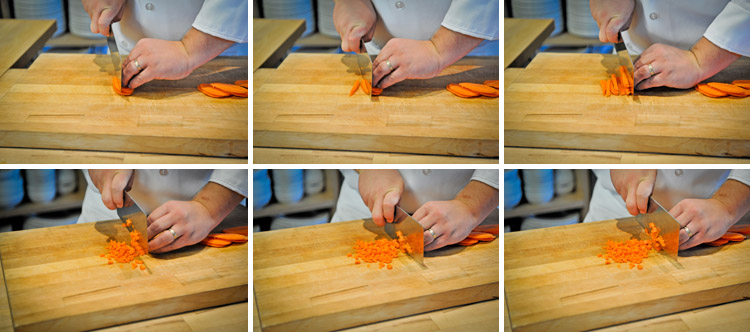 Asian Style Dice and Julienne - How to Video