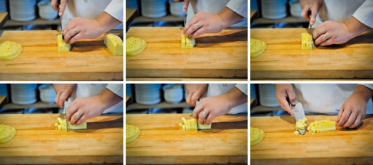How to Peel and Slice a Pineapple - Step Four