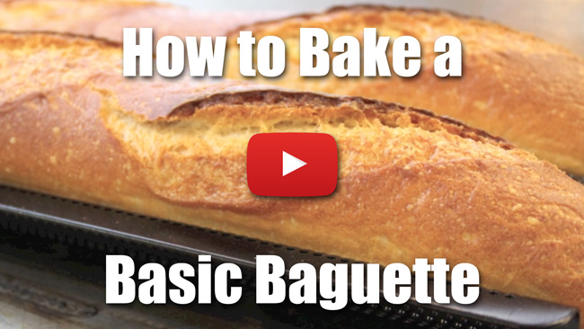 How to Bake a Basic Baguette - Video