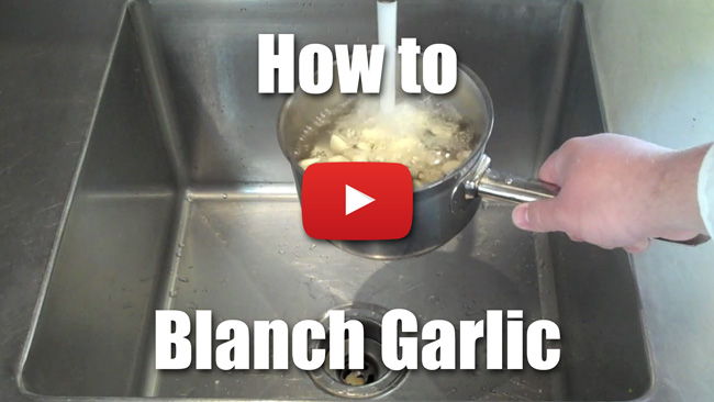 How to Blanch Garlic - Video