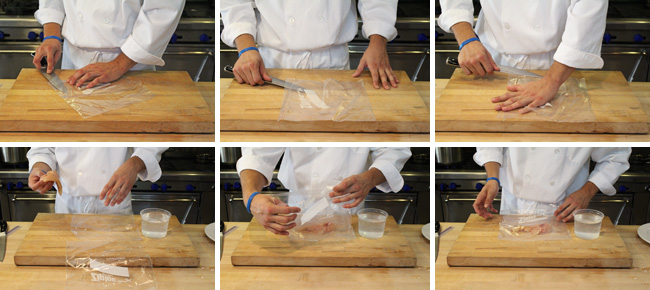 How to Make a Stuffed Chicken Breast Roulade - Step One