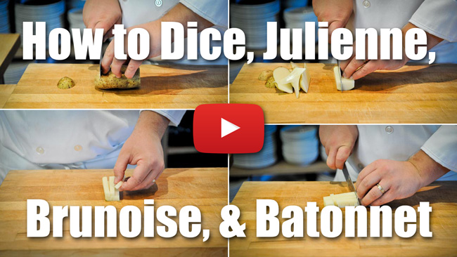 CKS 005| How to Dice, Julienne, Brunoise, and Batonnet