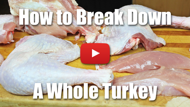 How to Break Down a Whole Turkey - Video