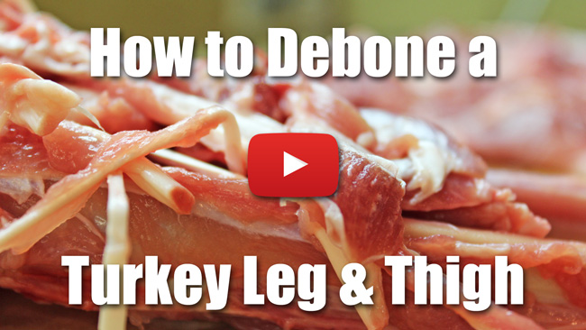 How to Debone a Turkey Leg and Thigh for Roulade