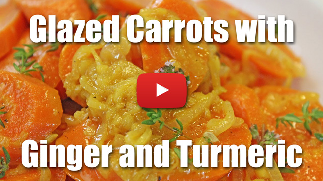 Ginger Glazed Carrots with Tumeric and Thyme - Video Recipe