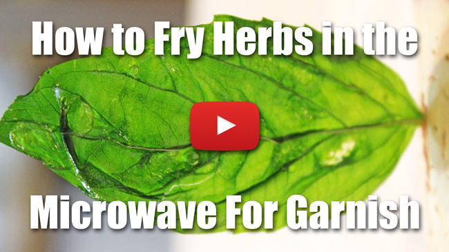 How to Fry Herbs In the Microwave For Garnish - Video Demonstration
