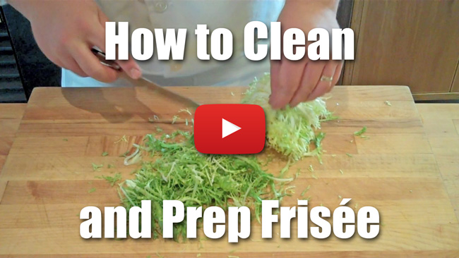 How to Clean and Prep Frisee