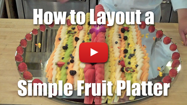 How to Layout A Simple Fruit Platter - Video