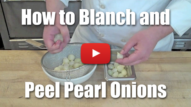 How to Blanch and Peel Pearl Onions - Video