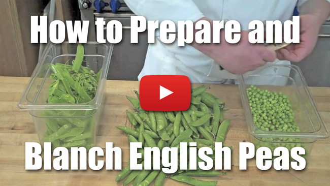 How to Prepare and Blanch English Peas - Video Technique