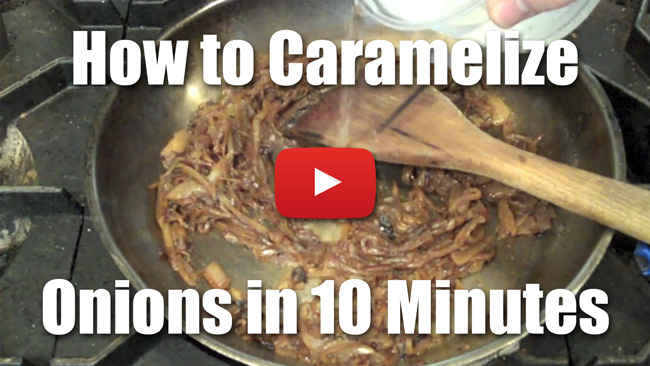 How to Caramelize Onions in 10 Minutes or Less - Short Video