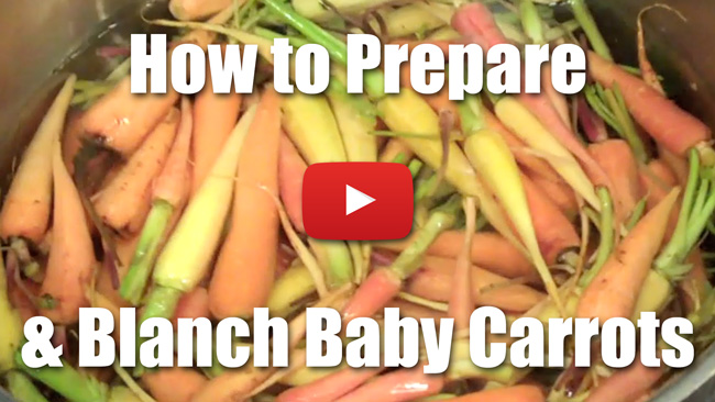 How to Peel and Blanch Baby Carrots - Video Technique