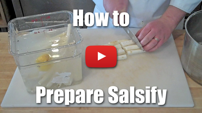 How to Prepare Salsify - Peel and Blanch