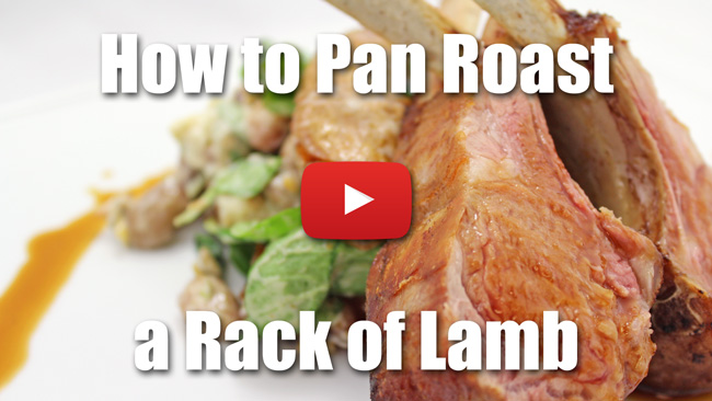 How to Pan Roast a Rack of Lamb