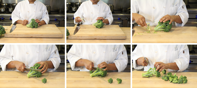 How to Prepare Broccoli Step One