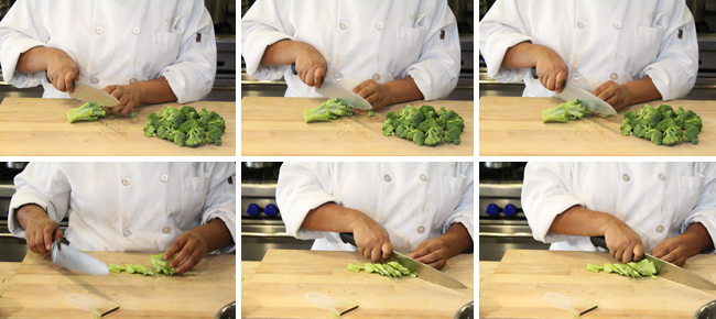 How to Prepare Broccoli Step Two
