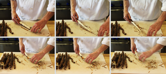 How to Prepare Salsify - Step Two