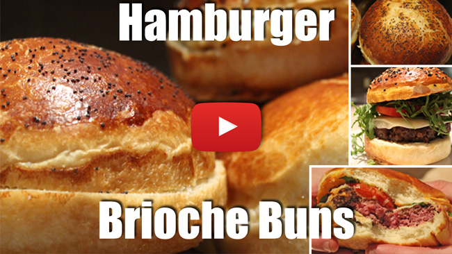 How to Make Hamburger Brioche Buns - Video Recipe