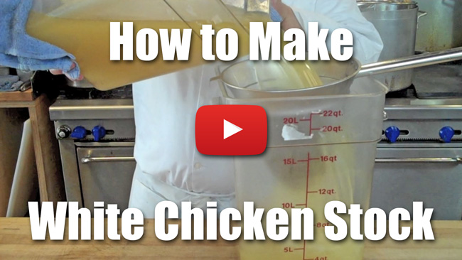 How to Make White Chicken Stock - Video