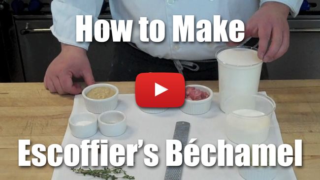how to make bechamel sauce video
