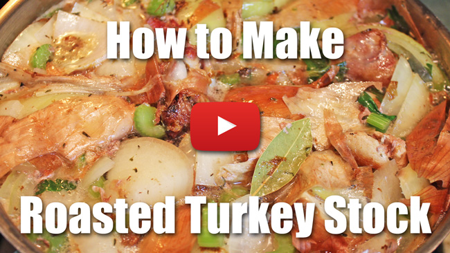 How to Make Turkey Stock - Video Recipe