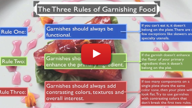 How to Garnish and Present Food - Video