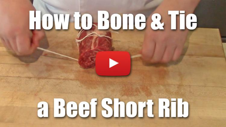 This video will teach you how to de-bone and tie a beef short rib for a tighter plate presentation.