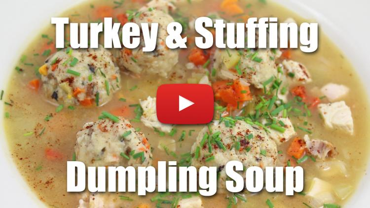 Turkey and Stuffing Dumpling Soup - Thanksgiving Day Leftovers