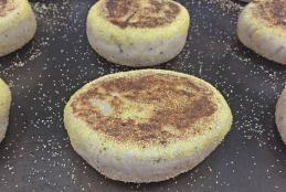 Sourdough English Muffin Recipe with Parmesan and Herbs