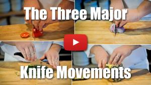 This video will demonstrate the three major knife movements used in the professional kitchen.
