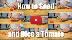 This video will teach you how to seed and dice a tomato. Culinary Knife Skills