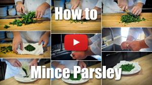 This video will teach you the proper technique for chopping and mincing parsley.