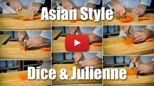 Asian Style Dice and Julienne - How to Video Technique